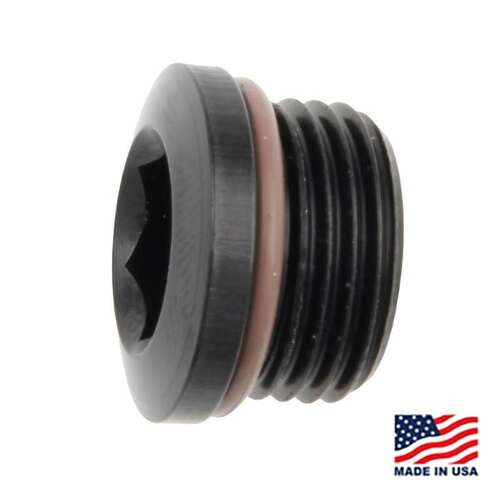 Fragola Socket Hex Port Plug – 813 – Aluminum A-N Adapters FRG-481308-BL (FRG-481308-BL)