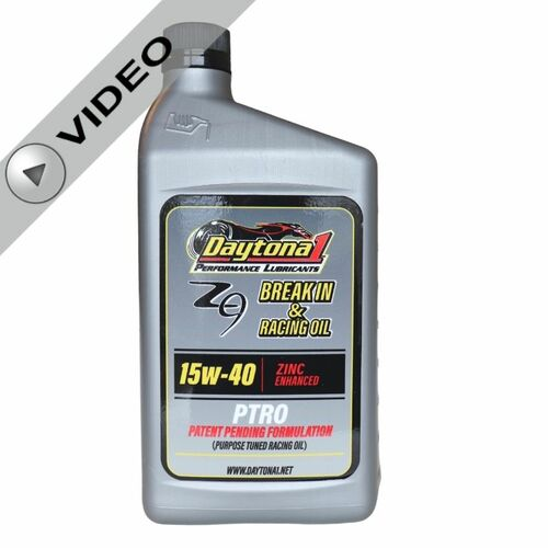 Daytona 1 PTRO Zinc Enhanced 15W-40 Break-In & Racing Oil Quart