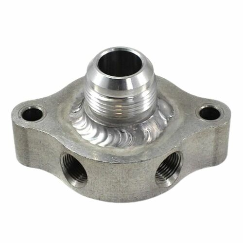 """Wher's Machine & Racing Products Riser With 3/8"""" Ports And -16AN Water Outlet (WM-39375-16)"""