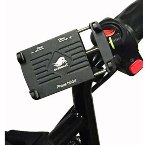 Burromax Pit Bike Phone Holder, Billet Aluminum w/handle bar mount-360 degree swivel (BM-16002)