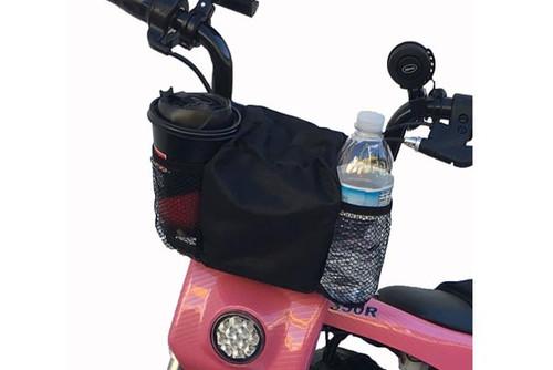 Burromax Pit Bike Handlebar Bag, 2 Cup holder, Black 16030