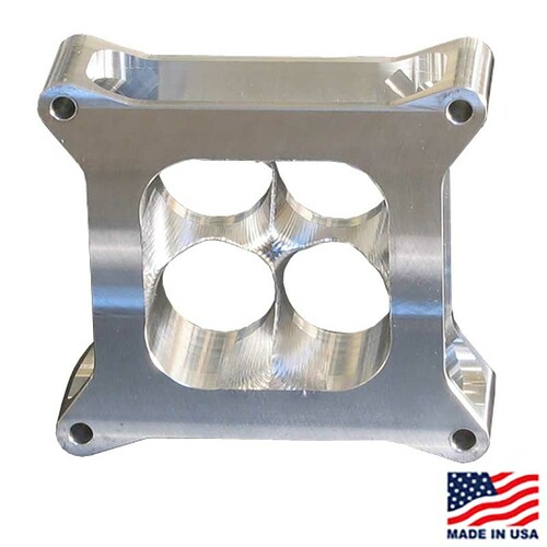 "Super Sucker Carb Spacer for GM CT525, 2"" tall, Lightweight Aluminum (SS4150-2ALW)"