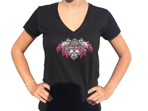 """Ladies """"Refuse to Lose"""" Shirt Front"""