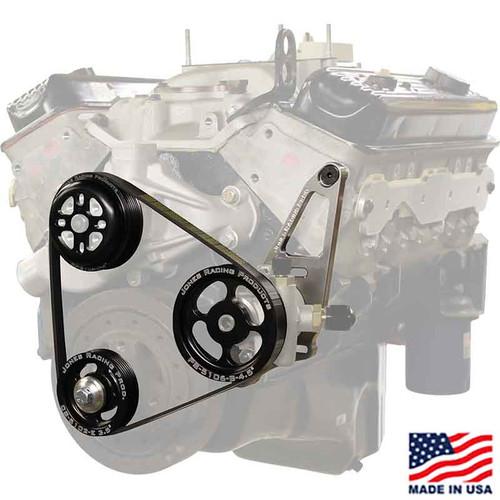 SBC 602/604 Serpentine SWP & PS Belt Drive by Jones Racing Products (JRP-1004-S-CE)