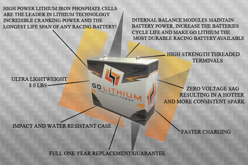GO Lithium 16 Volt Lithium Racing Battery Features
