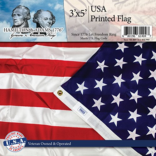 American Flag 3' x 5' -Printed -100% Made in USA