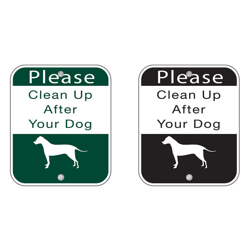 """SIGN  """"Clean Up After Your Dog"""" Item #: BW-SIGN"""