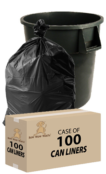 BIG Trash Can Liners –45 Gallon –Case of 100