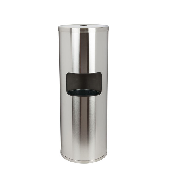 Floor Standing Stainless Steel Wipes Dispenser with Trash Can