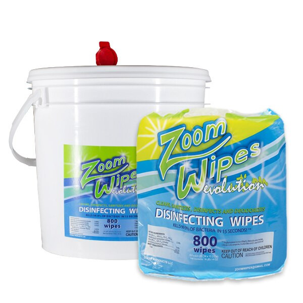 Portable Wipes Dispenser + Disinfecting Wipes