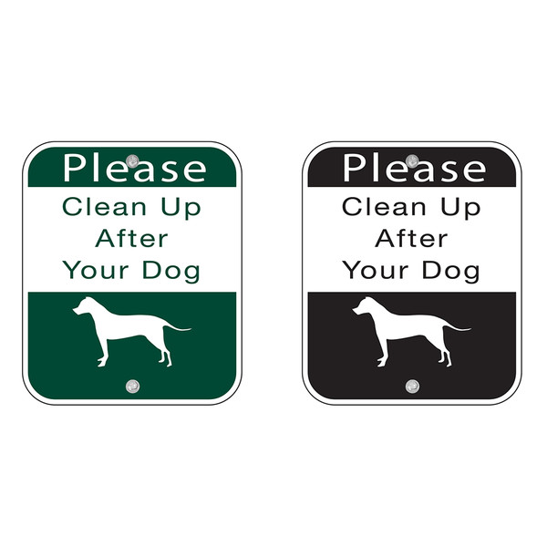 """Sign  """"Clean Up After Your Dog"""""""
