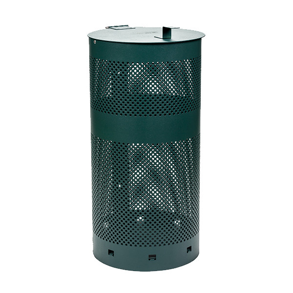 Round Mesh Waste Can with Lid