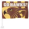 Hawthorn Football Club Medium Car Flag