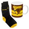 Hawthorn Football Club Mug & Sock Gift Pack