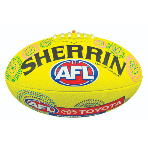 Hawthorn Football - Yellow Indigenous Synthetic - Size 5