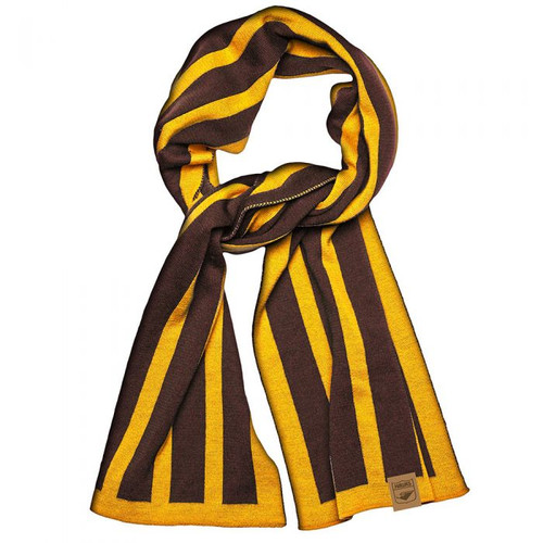 Hawthorn 100% Merino Wool Original Scarf  - Brown/Gold