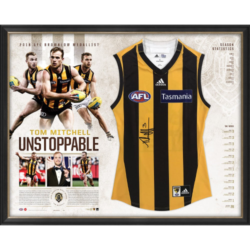 Hawthorn 2018 Brownlow Medallist Signed Framed Guernsey - Unstoppable