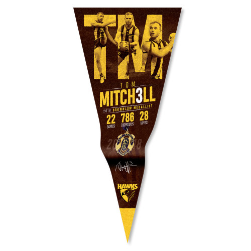 Hawthorn 2018 Brownlow Medallist Pennant - Tom Mitchell