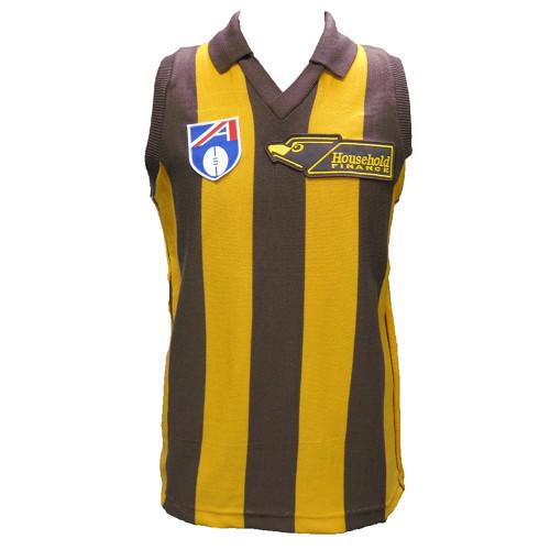 Hawthorn Football Club 100% Merino Wool Originals Guernsey 1991 - Mens Short Sleeve