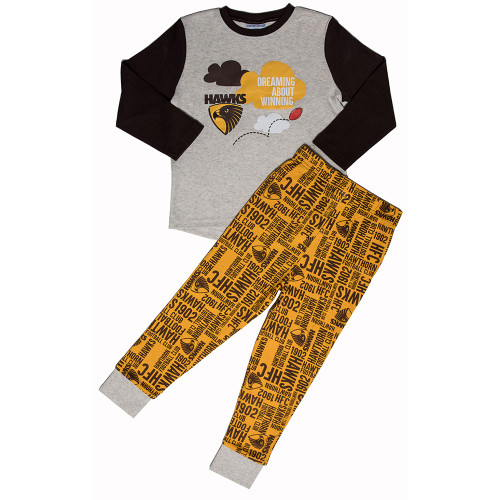 Hawthorn FC Toddler Long Sleeve PJs