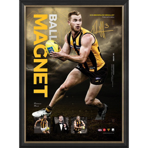 Hawthorn 2018 Brownlow Medallist Sportsprint Ball Magnet - Tom Mitchell