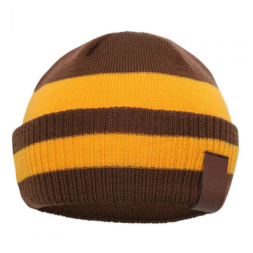 Hawthorn My 1st Hawthorn 100% Merino Wool Kids Beanie - Brown/Gold
