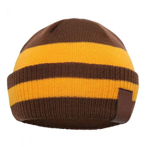 Hawthorn My 1st Hawthorn 100% Merino Wool Kids Beanie - Brown/Gold