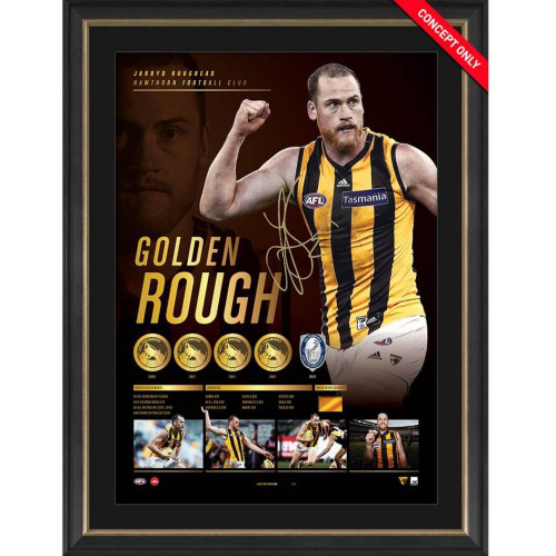 Hawthorn Jarryd Roughead Signed Golden Rough Retirement Lithograph