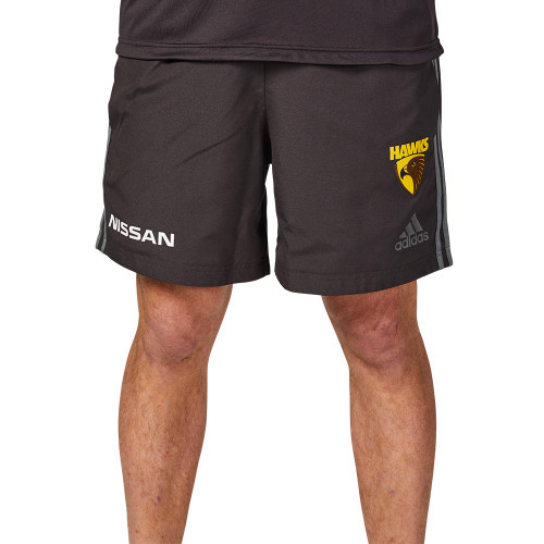 Brown adidas Hawthorn FC shorts 2020
