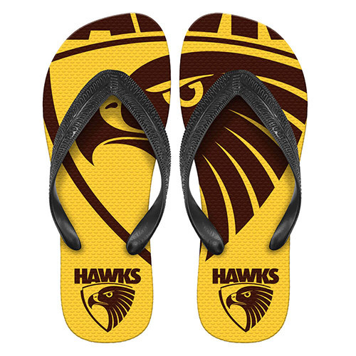 Hawthorn Mens Logo Thongs