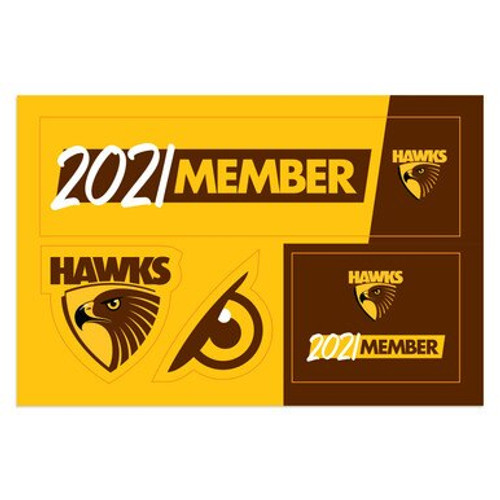 Hawthorn Football Club 2021 Member Bumper Sticker Sheet