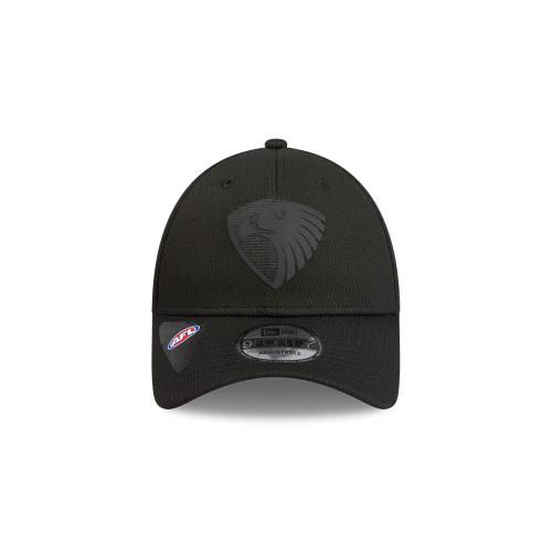 Hawthorn FC New Era 9Forty Black On Black Snapback Cap