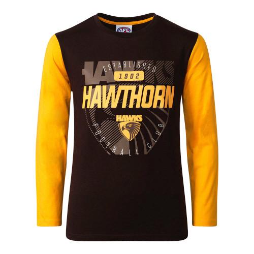 Hawthorn FC Winter 2020 Youth Long Sleeve Tee