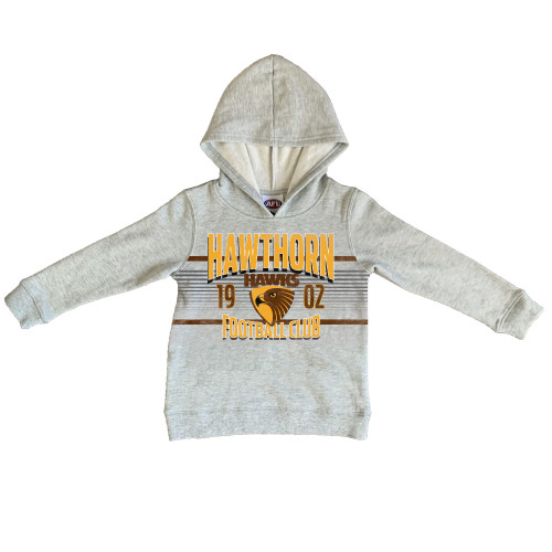Hawthorn Football Club Youth Grey Printed Hood
