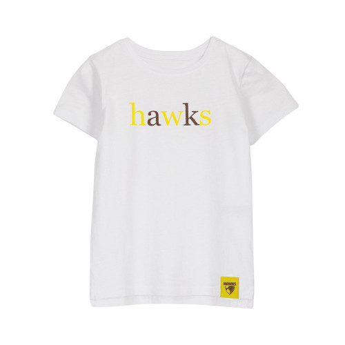 Hawthorn Football Club Girls Text Tee made by COTTON:ON