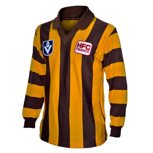 Hawthorn Football Club 100% Merino Wool Originals Guernsey 1989 - Mens Long Sleeve Jumper