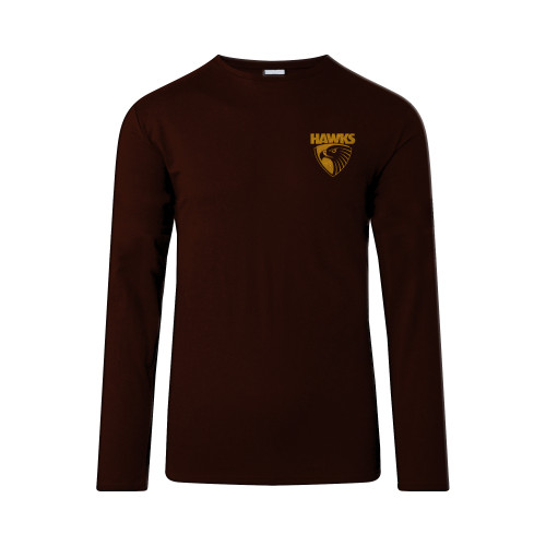Hawthorn Football Club Mens Big Logo Long Sleeve Winter Tee