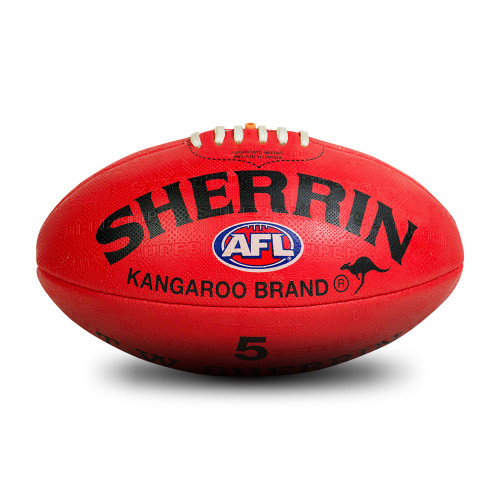 Hawthorn Football Club Size 5 Red Synthetic Sherrin Football