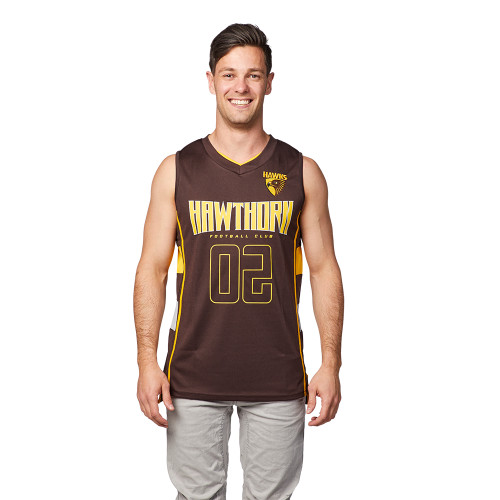 Hawthorn Football Club Mens Basketball Jersey