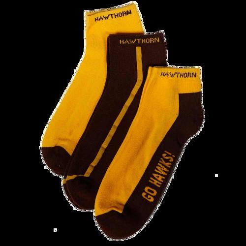 Hawthorn Football Club Ladies Ankle Socks 3-8