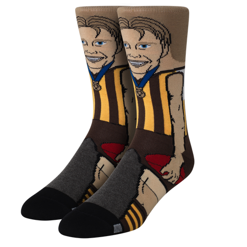 Hawthorn Football Club Crawford Nerd Socks