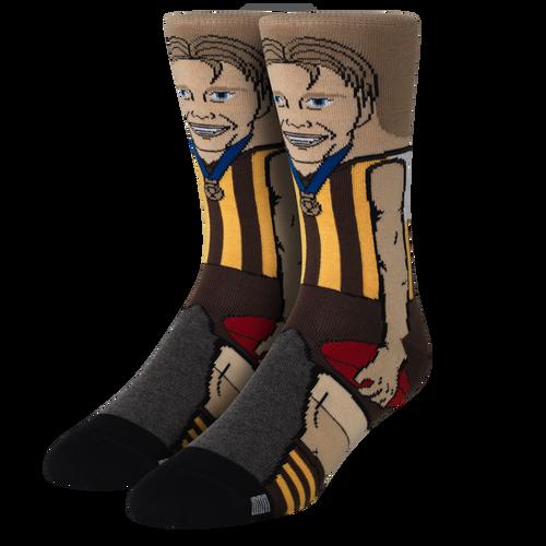 Hawthorn Football Club Crawford Nerd Socks