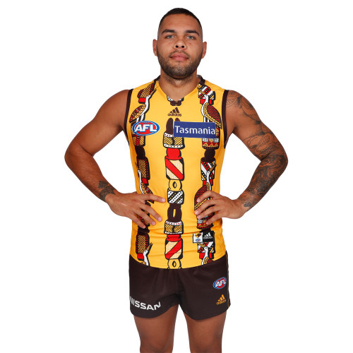 Hawthorn Football Club Indigenous Guernsey adidas 2019 Youth Rioli Commemorative