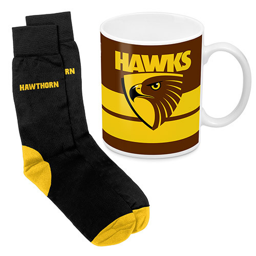 Hawthorn Football Club Mug & Sock Gift Pack