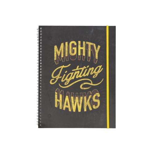 Hawthorn Typo Spiral Notebook