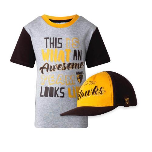 Hawthorn Toddlers Tee + Baseball Cap