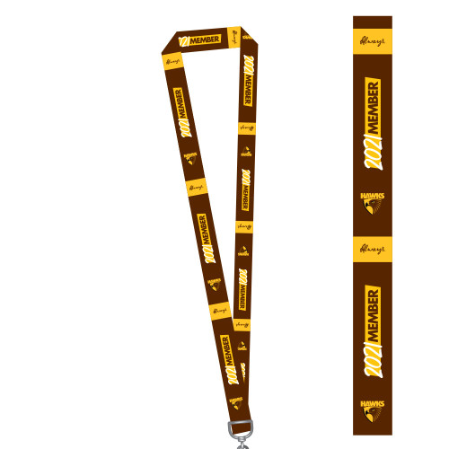Hawthorn Football Club 2021 Member Lanyard