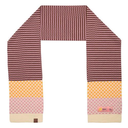 Hawthorn Football Club Merino Wool Scarf -  Pink Ribbon