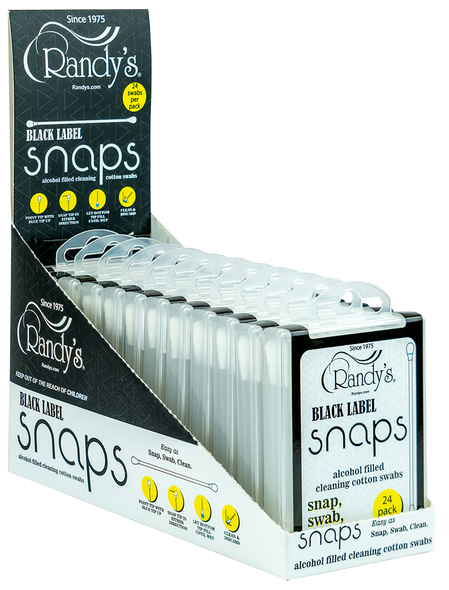 RANDY'S BLACK LABEL SNAPS ALCOHOL FILLED SWABS 24PC