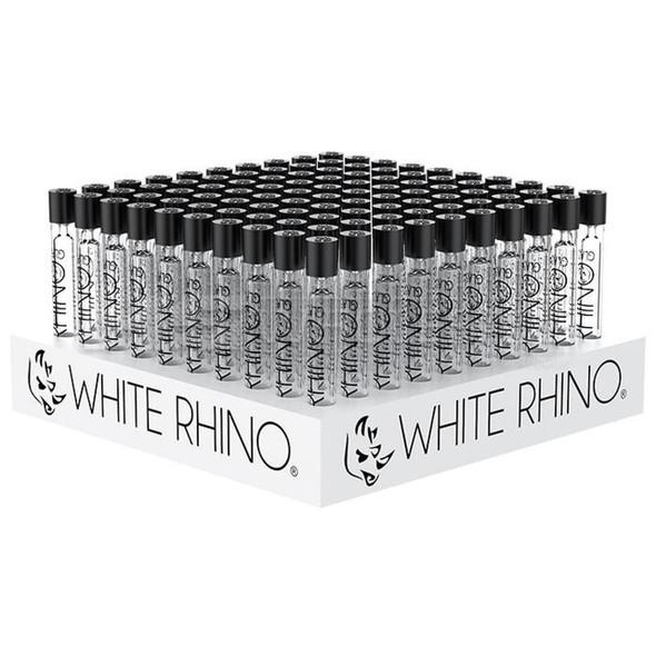 WHITE RHINO GLASS CHILLUM 100 PACK